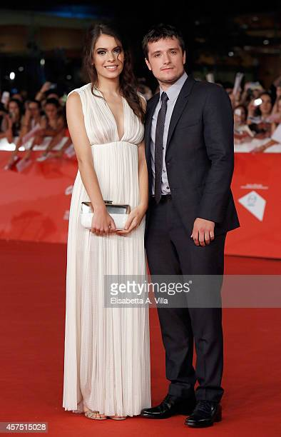 Actress Claudia Traisac and actor Josh Hutcherson attend 'Escobar Paradise Lost' Red Carpet during the 9th Rome Film Festival at Auditorium Parco...