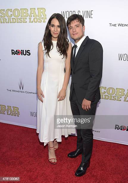 Actress Claudia Traisac and actor Josh Hutcherson attend the premiere of Escobar Paradise Lost at ArcLight Hollywood on June 22 2015 in Hollywood...