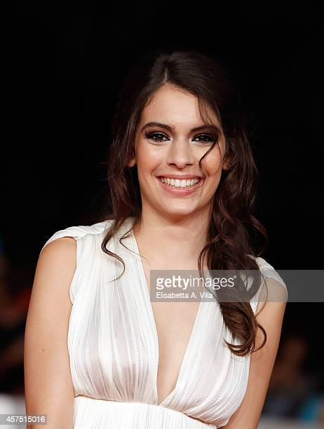 Actress Claudia Traisac attends 'Escobar Paradise Lost' Red Carpet during the 9th Rome Film Festival at Auditorium Parco Della Musica on October 19...
