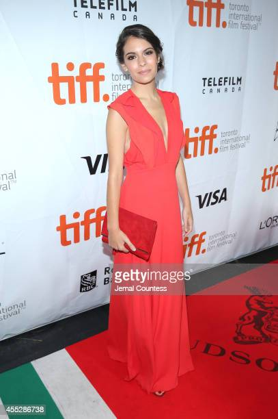 Actress Claudia Traisac attends the Escobar Paradise Lost premiere during the 2014 Toronto International Film Festival at Roy Thomson Hall on...