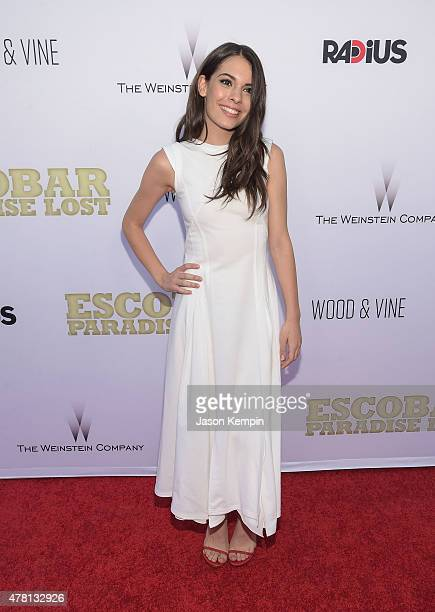 Actress Claudia Traisac attends the premiere of Escobar Paradise Lost at ArcLight Hollywood on June 22 2015 in Hollywood California