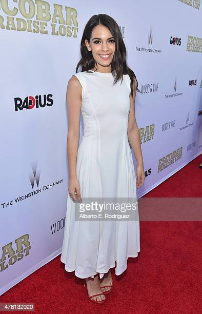 Actress Claudia Traisac attends the premiere of RADiUS and The Weinstein Company's Escobar Paradise Lost at ArcLight Hollywood on June 22 2015 in...