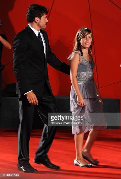 Actress Claudia Vega and director Kike Maillo attend Eva Premiere at Palazzo del Cinema on September 7 2011 in Venice Italy
