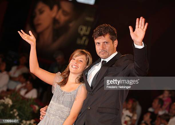 Actress Claudia Vega and director Kike Maillo attend the Eva premiere during the 68th Venice Film Festival at Palazzo del Cinema on September 7 2011...