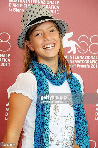 Actress Claudia Vega attends the Eva Photocall during the 68th Venice International Film Festival at Palazzo del Casino on September 7 2011 in Venice...