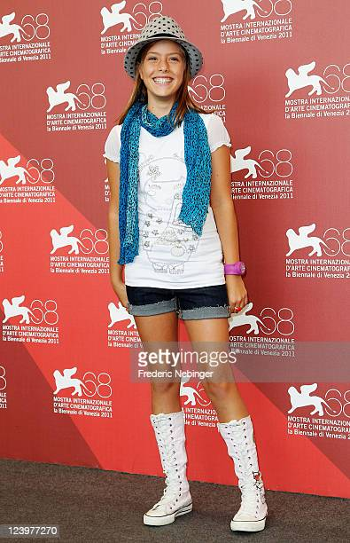 Actress Claudia Vega poses at the Eva photocall during the 68th Venice Film Festival at Palazzo del Cinema on September 7 2011 in Venice Italy