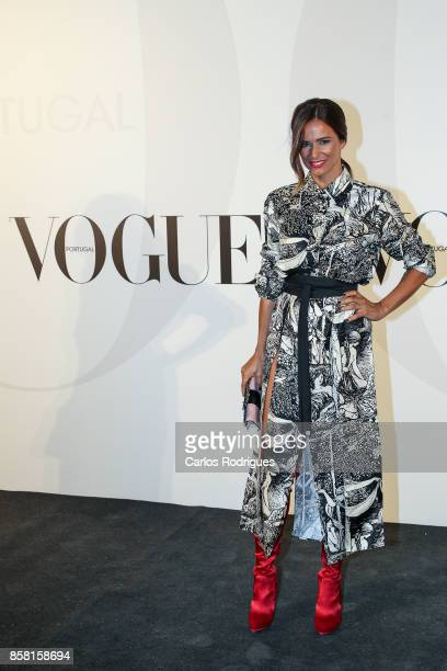 Actress Claudia Vieira attends the Vogue Portugal Party Photocall on October 5 2017 in Lisbon Portugal