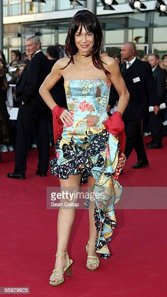 Actress Claudine Wilde arrives at the German Television Awards at the Coloneum on October 15 2005 in Cologne Germany
