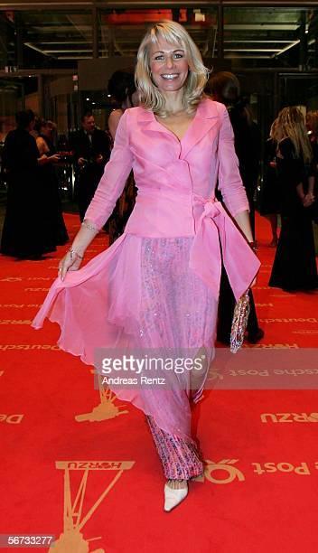 Actress Claudine Wilde arrives for the 'Goldene Kamera' Award on February 2 2006 in Berlin Germany