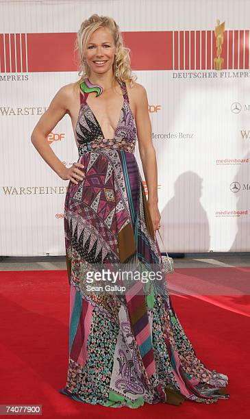 Actress Claudine Wilde attends the German Film Award at the Palais am Funkturm May 4 2007 in Berlin Germany