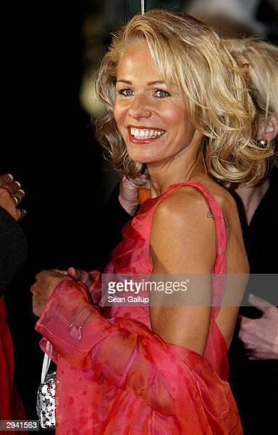 Actress Claudine Wilde attends the Goldene Kamera Film Awards February 4 2004 in Berlin Germany