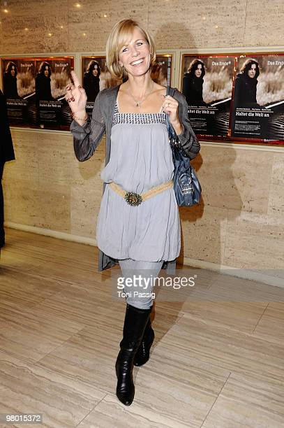 Actress Claudine Wilde attends the premiere of 'Haltet Die Welt An' at Astor Film Lounge on March 24 2010 in Berlin Germany