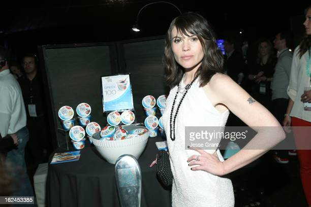 Actress Clea DuVall attends the On3 Official Presenter Gift Lounge during the 2013 Film Independent Spirit Awards at Santa Monica Beach on February...