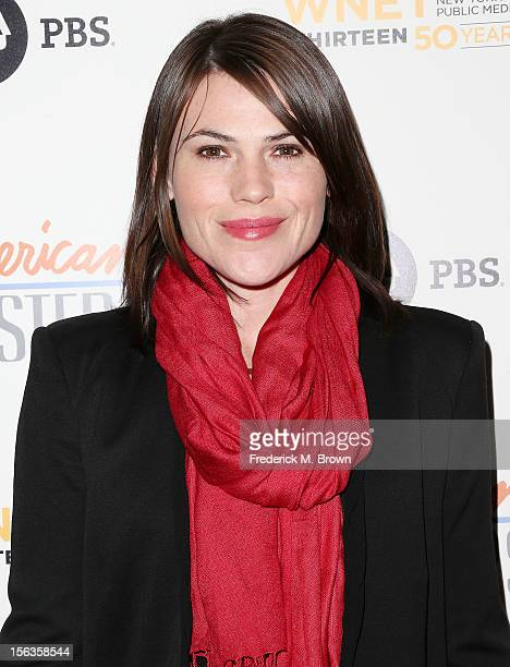 Actress Clea DuVall attends the Premiere Of 'American Masters Inventing David Geffen' at The Writers Guild of America on November 13 2012 in Beverly...