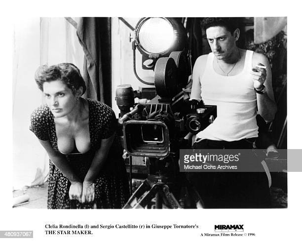 Actress Clelia Rondinella and actor Sergio Castellitto in a scene from the movie 'The Star Maker' circa 1995