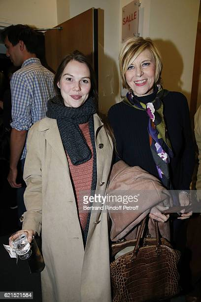 """Actress Clemence Ansault and her Mother Actress Chantal Ladesou attend """"Un Homme et Une Femme"""" screening for its 5Oth Anniversary at l'Arlequin on..."""
