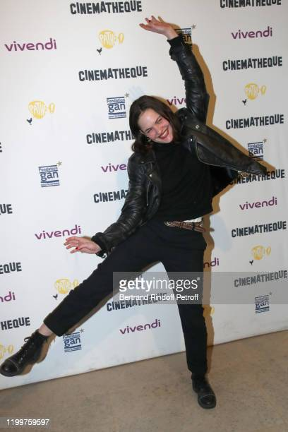 Actress Clemence Boisnard attends the Tribute to James Ivory at Cinematheque Francaise on January 15, 2020 in Paris, France.