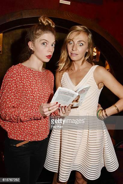 """Actress Clemence Bretecher and Amelie Etasse attend """"L'Art du Bien Etre Et Ailleurs Dans Ton Coeur"""" Amelie Etasse and Clement Vallos Book Launching..."""