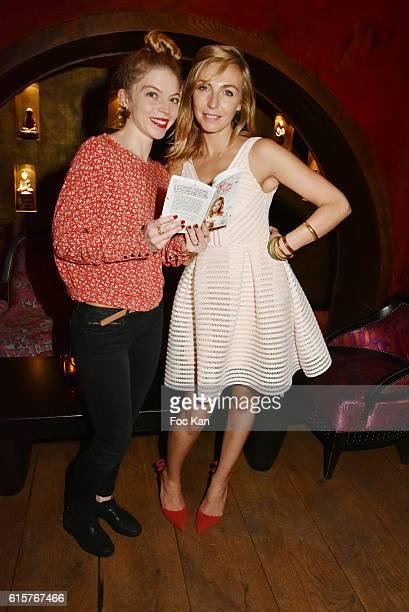 Actress Clemence Bretecher and Amelie Etasse attend L'Art du Bien Etre Et Ailleurs Dans Ton Coeur Amelie Etasse and Clement Vallos Book Launching at...