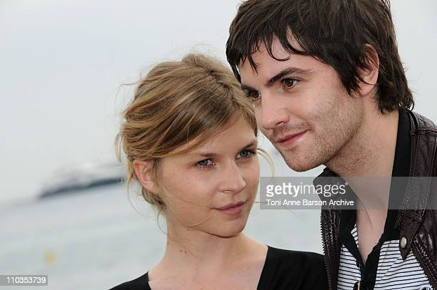 Actress Clemence Poesy and actor Jim Sturgess attend the Heartless photocall at Majestic Beach during the 61st Cannes International Film Festival on...
