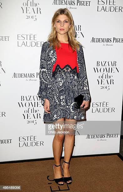 Actress Clemence Poesy attends Harper's Bazaar Women of the Year Awards at Claridge's Hotel on November 3 2015 in London England