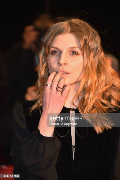 Actress Clemence Poesy attends the 'Final Portrait' premiere during the 67th Berlinale International Film Festival Berlin at Berlinale Palace on...