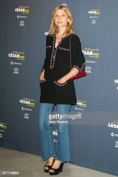 Actress Clemence Poesy attends the 'Les Nuits En Or 2018' dinner gala at UNESCO on June 11 2018 in Paris France