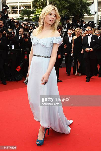 """Actress Clemence Poesy attends the """"Pirates of the Caribbean: On Stranger Tides"""" premiere at the Palais des Festivals during the 64th Cannes Film..."""