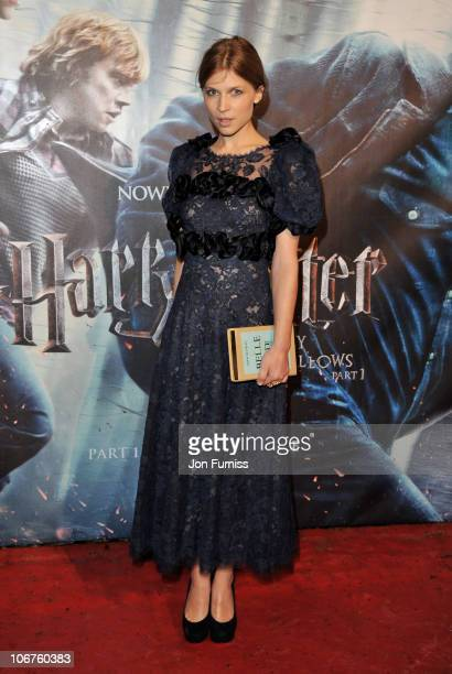 Actress Clemence Poesy attends the world premiere of Harry Potter and The Deathly Hallows at Odeon Leicester Square on November 11 2010 in London...