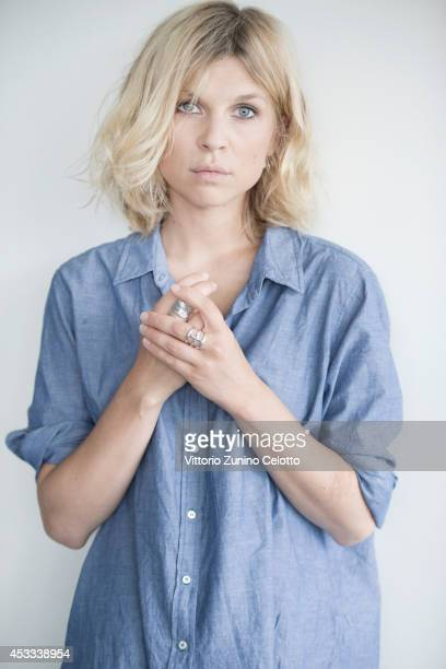 Actress Clemence Poesy poses on August 7 2014 in Locarno Switzerland