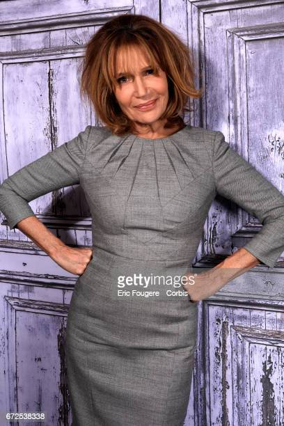 Actress Clementine Celarie poses during a portrait session in Paris France on