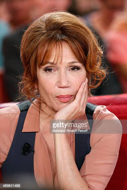 Actress Clementine Celarie presents the Theater play 24h de la vie d'une femme performed at Theatre Rive Gauche during the 'Vivement Dimanche' French...