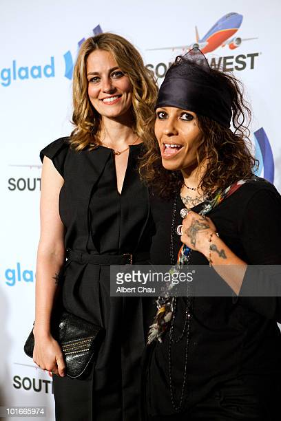 Actress Clementine Ford and Musician Linda Perry arrive at the 21st Annual GLAAD Media Awards held at Marriot Marquis on June 5 2010 in San Francisco...