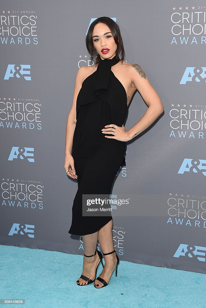 Actress Cleopatra Coleman attends the 21st Annual Critics' Choice Awards at Barker Hangar on January 17, 2016 in Santa Monica, California.