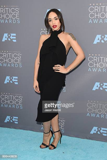 Actress Cleopatra Coleman attends the 21st Annual Critics' Choice Awards at Barker Hangar on January 17 2016 in Santa Monica California