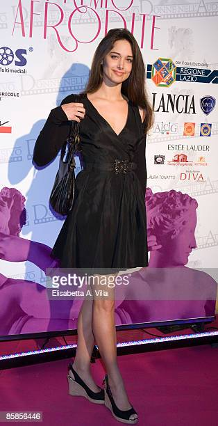 Actress Clizia Fornasier attends 'Premio Afrodite' Women In Film And Television International Award at Studios De Paolis on April 7 2009 in Rome Italy