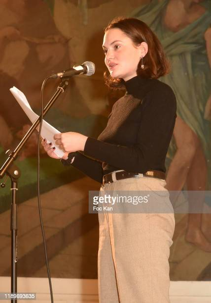 Actress Clémence Boisnard attends the Poesie En Liberté 2019 Awards Ceremony At Mairie Du 5eme on November 23 2019 in Paris France