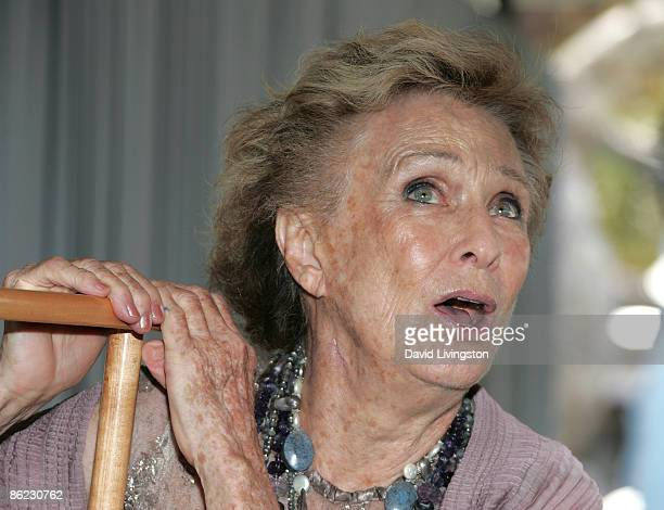 Actress Cloris Leachman appears on stage at the 14th annual Los Angeles Times Festival of Books Day 2 at UCLA on April 26 2009 in Los Angeles...