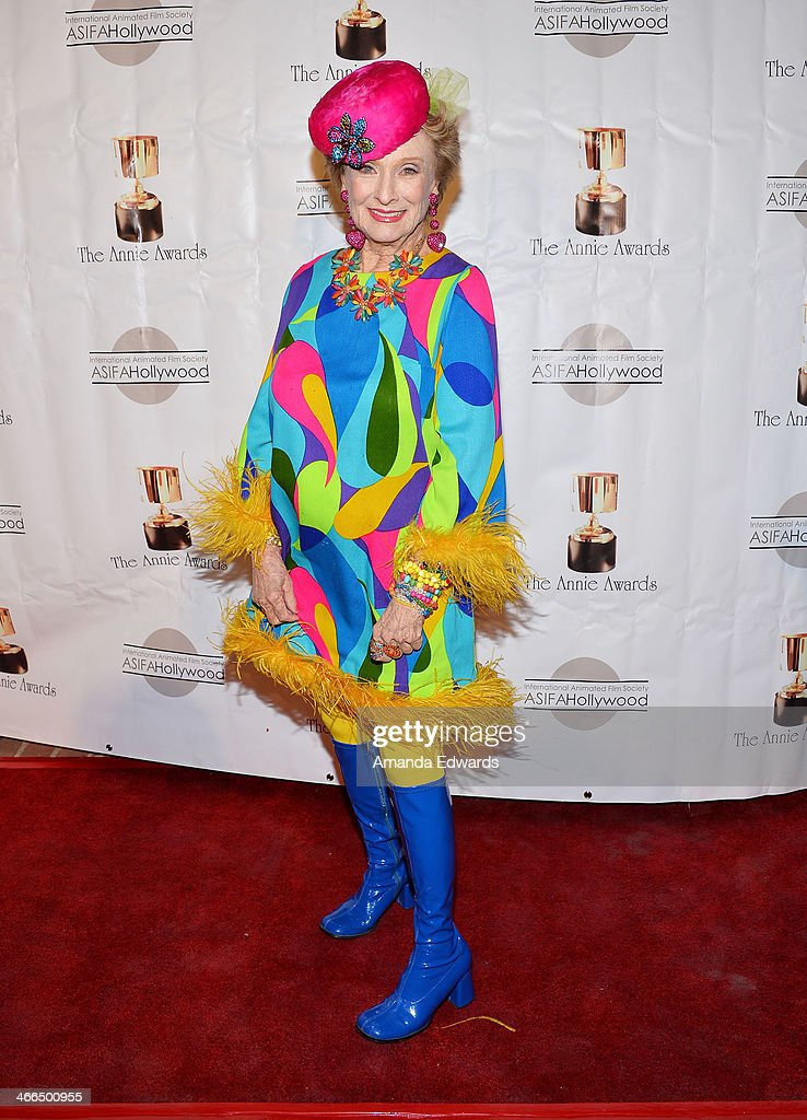 Actress Cloris Leachman arrives at the 41st Annual Annie Awards at Royce Hall, UCLA on February 1, 2014 in Westwood, California.