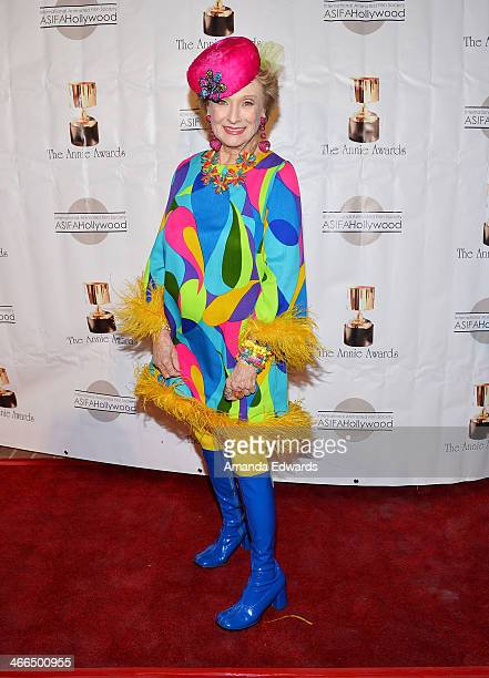Actress Cloris Leachman arrives at the 41st Annual Annie Awards at Royce Hall UCLA on February 1 2014 in Westwood California