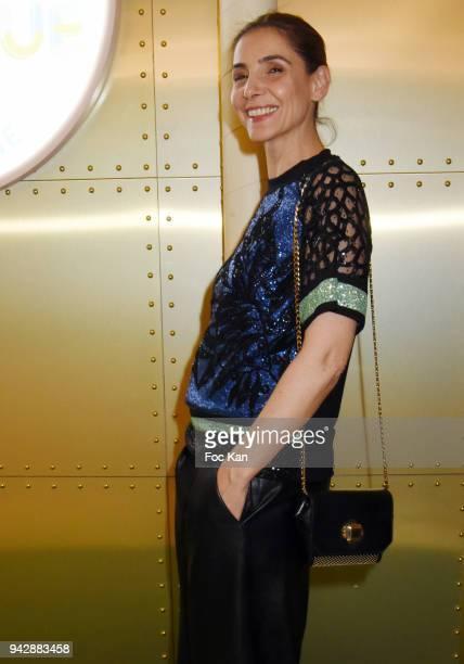 Actress Clotilde Courau attend the Mosaert Fabrique Party at Le Bon Marche on April 6 2018 in Paris France
