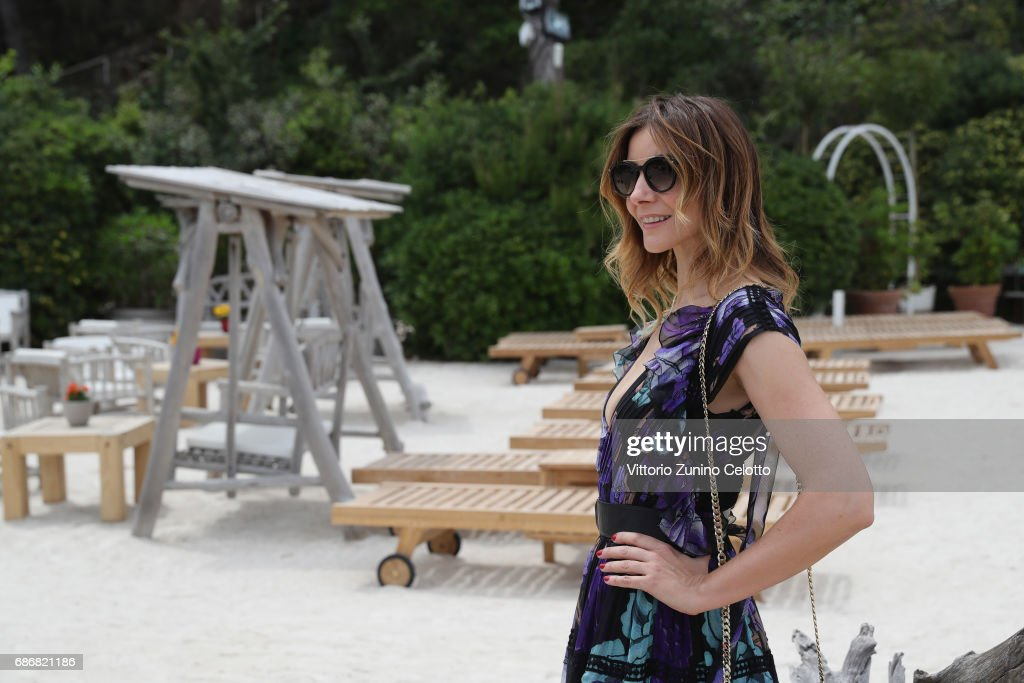 Actress Clotilde Courau attends Kering Women in motion Lunch with Madame Figaro on May 22, 2017 in Cannes, France.