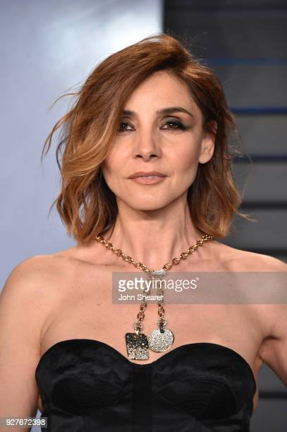 Actress Clotilde Courau attends the 2018 Vanity Fair Oscar Party hosted by Radhika Jones at Wallis Annenberg Center for the Performing Arts on March...