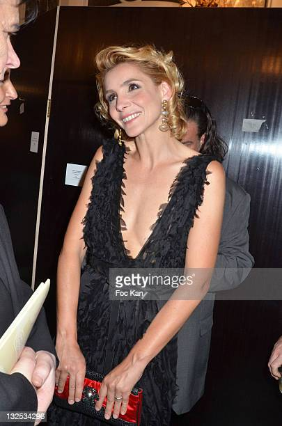 Actress Clotilde Courau attends the 50 th Anniversary of 'Sophie La Girafe' at Salon France Ameriques on May 24 2011 in Paris France