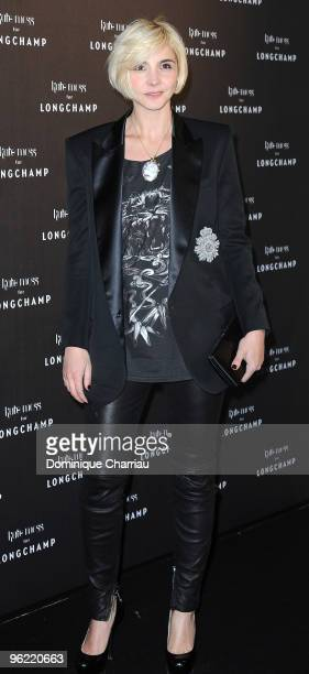 Actress Clotilde Courau attends the ''Kate Moss for Longchamp'' Collection Launch Coktail Party at Ritz Club on January 27, 2010 in Paris, France.