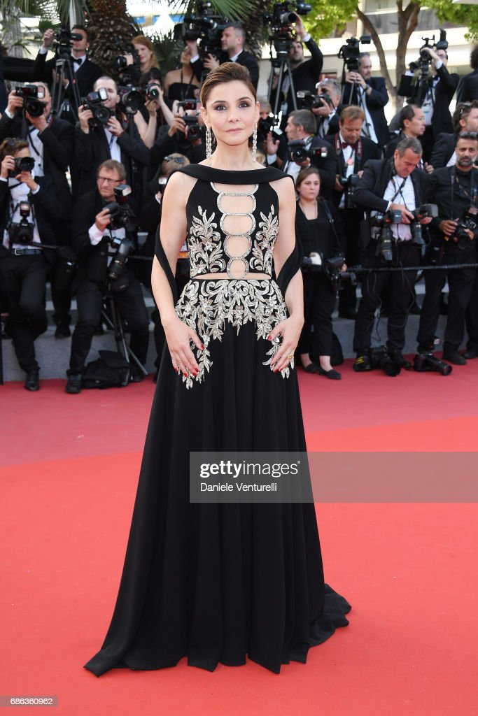 Actress Clotilde Courau attends the 'The Meyerowitz Stories' screening during the 70th annual Cannes Film Festival at Palais des Festivals on May 21, 2017 in Cannes, France.