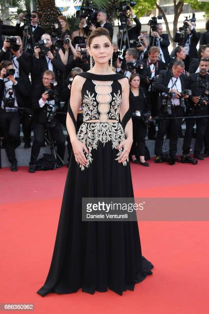 Actress Clotilde Courau attends the 'The Meyerowitz Stories' screening during the 70th annual Cannes Film Festival at Palais des Festivals on May 21...