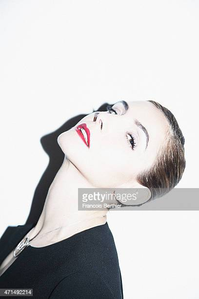 Actress Clotilde Courau is photographed for Self Assignment on March 24 2015 in Paris France