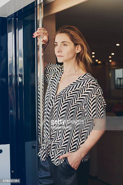 Actress Clotilde Courau is photographed for Self Assignment on May 15 2015 in Cannes France