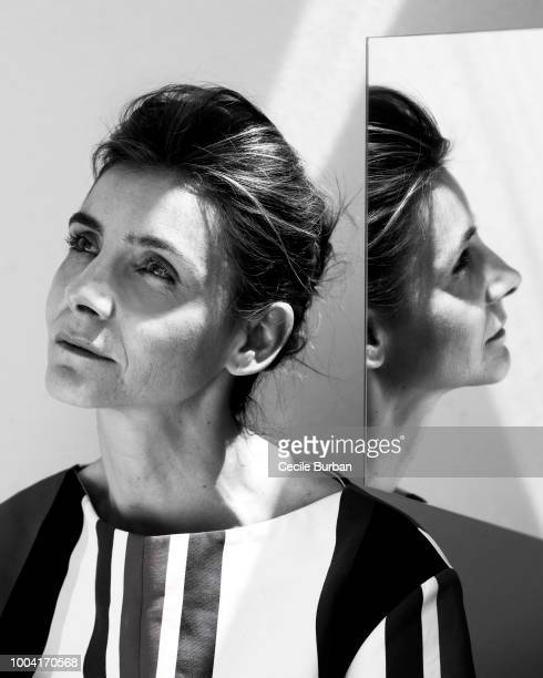 Actress Clotilde Courau is photographed for Self Assignment on May 2015 in Cannes France